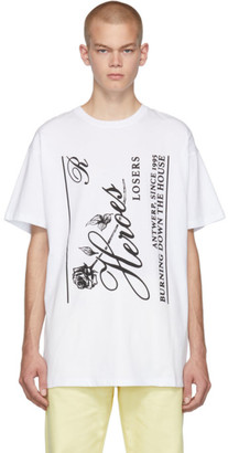 Raf Simons White Heroes Big Fit T-Shirt