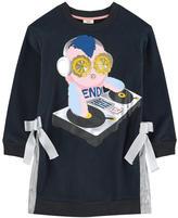 Fendi Exclusive print bi-material dress