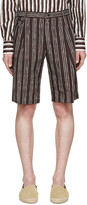 Dolce & Gabbana Black Pinstriped Shorts