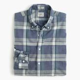 J.Crew Secret Wash shirt in indigo plaid end-on-end cotton