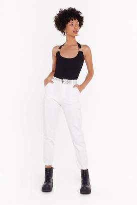 Nasty Gal Womens Cargo Trousers - white - L