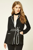 Forever 21 FOREVER 21+ Contrast-Piped Blazer