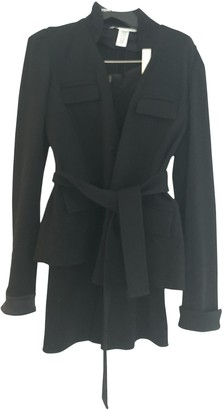 Diane von Furstenberg Black Wool Leather jackets
