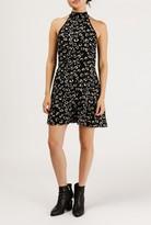 Azalea Floral Mock Neck Sleeveless Dress