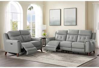 Tortuga Wrought Studio Power 2 Piece Leather Reclining Living Room Set Wrought Studio