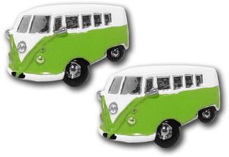 Motor Vehicle Cufflinks Green Campervan Cufflinks