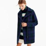 J.Crew Petite zippered coat in Black Watch tartan