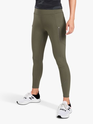 Athleta Rainer Plush Supersonic Tights, Green