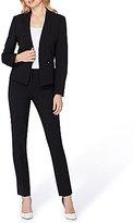 Tahari ASL Bi-Stretch Collarless Pant Suit