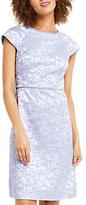 Oasis Jacquard Shift Dress, Blue/Multi
