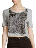 Calvin Klein Jeans Short Sleeve Roundneck Cropped Top