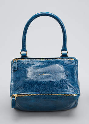 Givenchy Pandora Small Leather Shoulder Bag, Blue