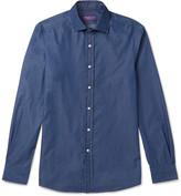 Ralph Lauren Purple Label - Aston Slim-fit Cutaway-collar Cotton-chambray Shirt