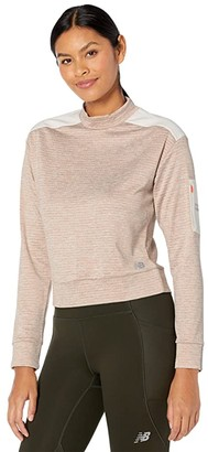 New Balance Heat Grid Long Sleeve (Heather Charcoal) Women's Clothing
