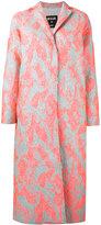 MSGM porous texture midi coat - women - Polyamide/Polyester/Metallic Fibre - 42