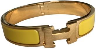 Hermã ̈S HermAs Clic H Yellow Gold plated Bracelets