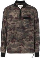 Halo camouflage print lightweight jacket