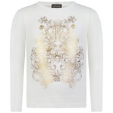 Roberto Cavalli Roberto CavalliGirls Ivory Top With Gold Print