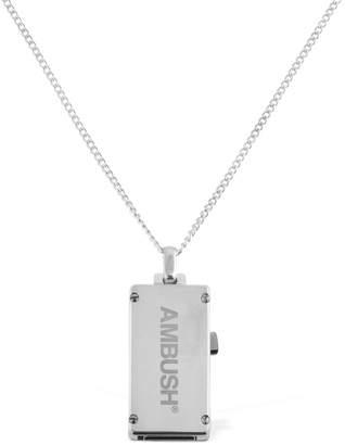 Ambush Long Silver Usb Necklace
