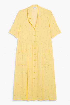 Monki Long button-up shirt dress