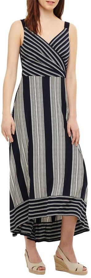 Phase Eight Maisie Striped Maxi Dress, Navy/Ivory