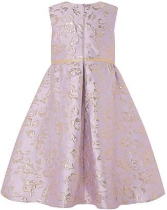 Monsoon Girls Ida Pink Jacquard Hi-Low Dress - Pink