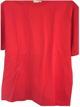 Hermes Red Cotton Top for Women Vintage