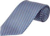 Salvatore Ferragamo Blue & Pink Silk Tie