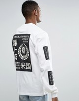 10 Deep Long Sleeve T-shirt With Print Patches