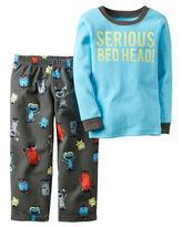 Carter's 2-pc. Serious Bedhead Fleece Pajama Set - Toddler Boys 2t-5t