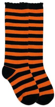 Jefferies Socks Girls Socks, 1 Pack Stripe Fashion Pattern Knee High Sizes XS - M