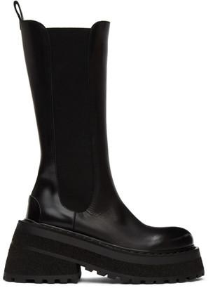 Marsèll Black Carretta Tall Chelsea Boots