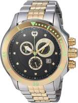 Brillier Men's 13-03 Fortress Diamond Swiss 47mm Chronograph Day and Date Function Watch