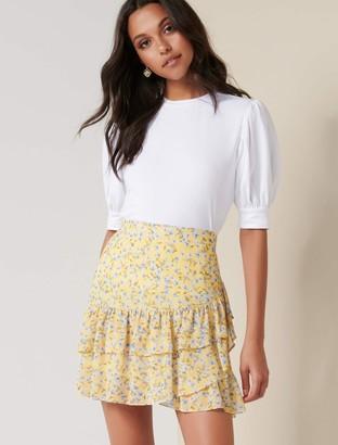 Ever New Jaiden Ruffle Mini Skirt