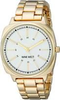 Nine West Women's NW/1686WTGB Gold-Tone Bracelet Watch