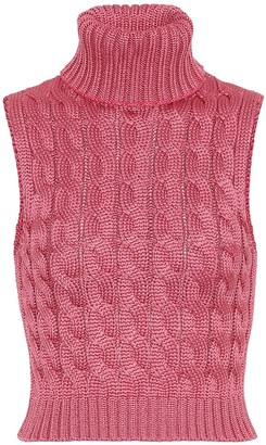 Matthew Adams Dolan Cable-knit sweater vest