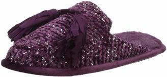 Dearfoams Women's Chenille Closed Toe Scuff with Tassels Slipper