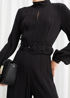 And other stories Long Sleeve Belted Jumpsuit