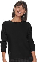 Apt. 9 Women's Ribbed Dolman Pullover Top