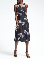 Banana Republic Sleeveless Floral Wrap Dress