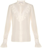 Stella McCartney Ruffled high-neck silk blouse