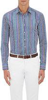 Etro Men's Striped Cotton Shirt-BURGUNDY