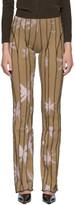 BEIGE Helenamanzano SSENSE Exclusive Anemony 3D Stripe Lounge Pants