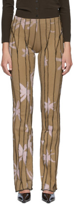BEIGE Helenamanzano SSENSE Exclusive 3D Stripe Anemony Lounge Pants