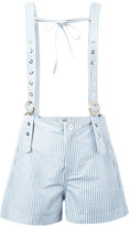 Kenzo shorts with braces - women - Cotton/Polyester - 36