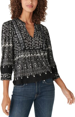 Lucky Brand Knit Peasant Top