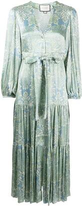 Alexis Fortunia floral-print midi dress