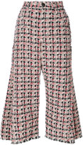 Sonia Rykiel tweed flared trousers - women - Silk/Cotton/Polyester/other fibers - 34