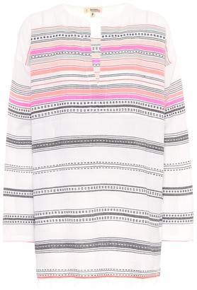 Lemlem Kal striped cotton-blend top
