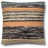 Magnolia Home By Joanna Gaines Magnolia Home Jordan 22-Inch Square Throw Pillow in Orange/Blue